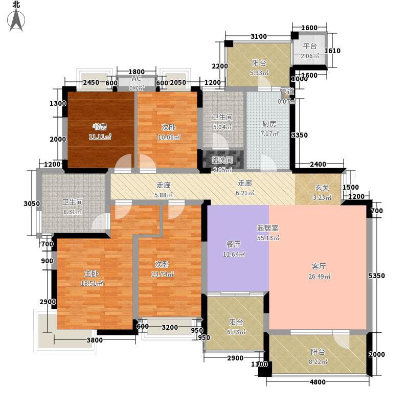 润泽大院179.00㎡中庆二期-E2户型