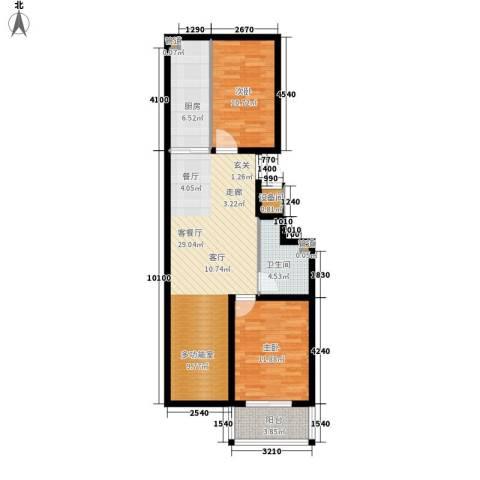 盛华苑二期2室1厅1卫1厨97.00㎡户型图