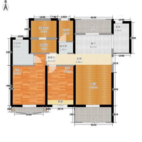 棕榈湾2室1厅2卫1厨118.00㎡户型图