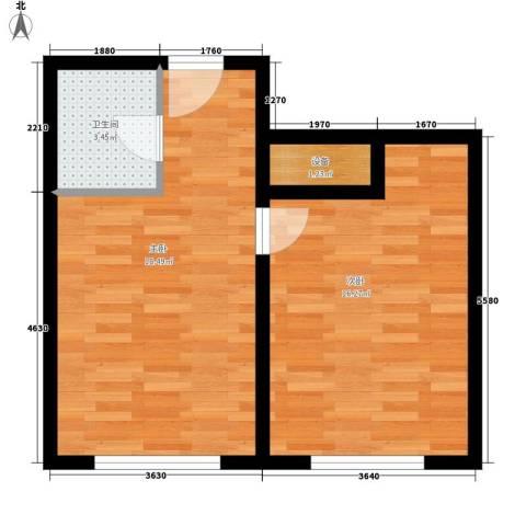 长庚老年公寓2室0厅1卫0厨64.00㎡户型图