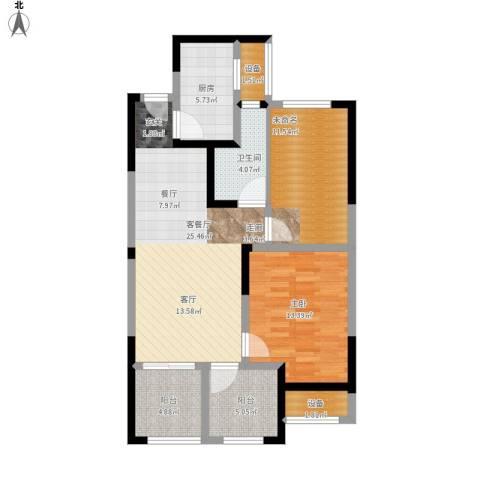 常发御龙山1室1厅1卫1厨108.00㎡户型图