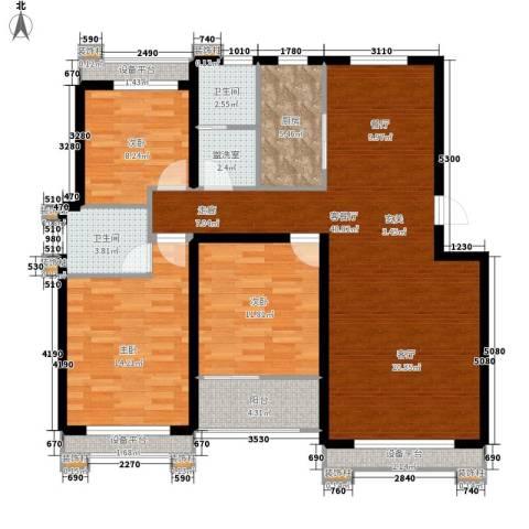 逸水园3室1厅2卫1厨114.82㎡户型图