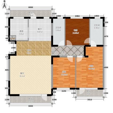 天人居3室1厅2卫1厨192.00㎡户型图