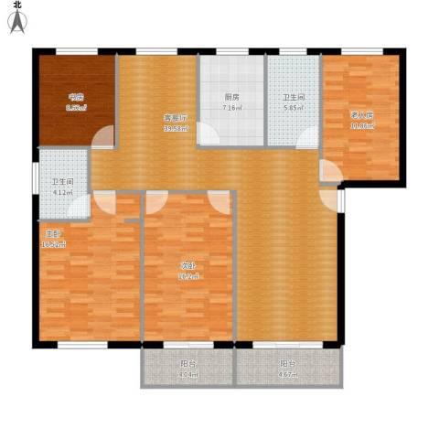 富春花园4室1厅2卫1厨153.00㎡户型图
