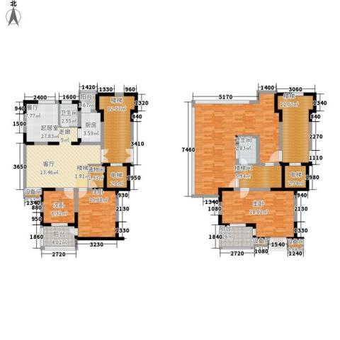 鸿雁名居3室0厅2卫1厨140.00㎡户型图