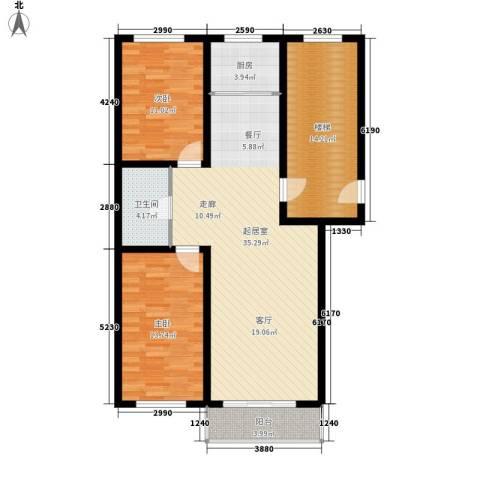 意达花园2室0厅1卫1厨98.00㎡户型图