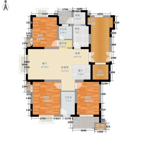 鸿雁名居3室0厅2卫2厨115.00㎡户型图