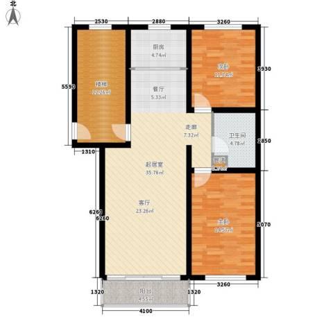 意达花园2室0厅1卫1厨100.00㎡户型图