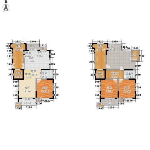 鸿雁名居3室0厅2卫1厨179.29㎡户型图