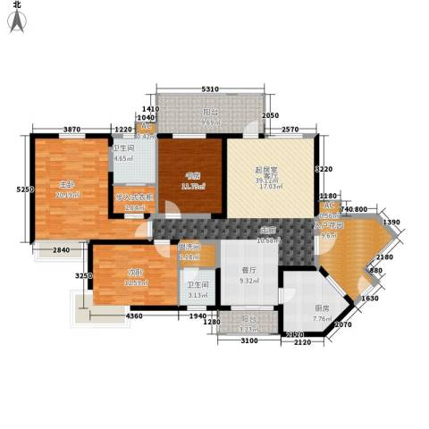 城市星钻3室0厅2卫1厨134.00㎡户型图