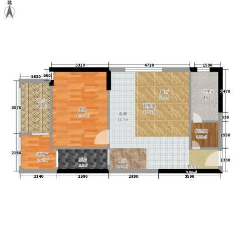 大话南门项目1室0厅1卫1厨75.00㎡户型图