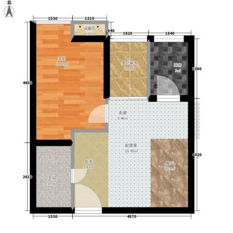 温莎公寓1室0厅1卫1厨52.00㎡户型图