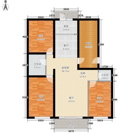 意达花园3室0厅2卫1厨129.00㎡户型图