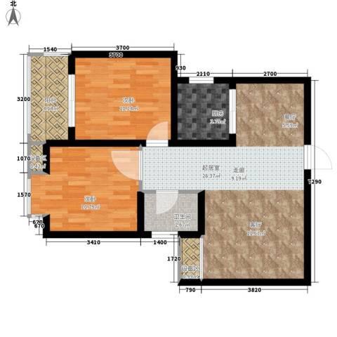 新旅城2室0厅1卫1厨79.00㎡户型图