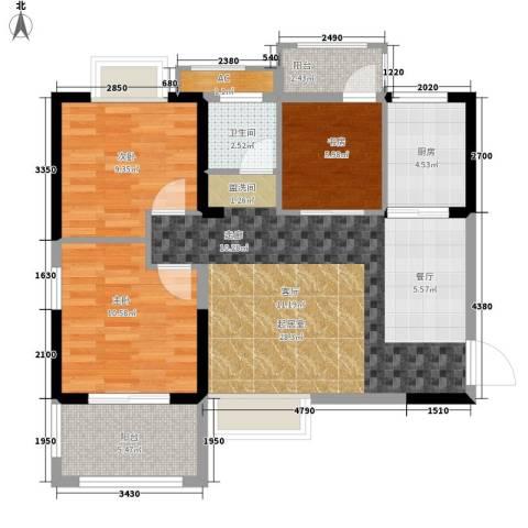 向阳小区3室0厅1卫1厨100.00㎡户型图