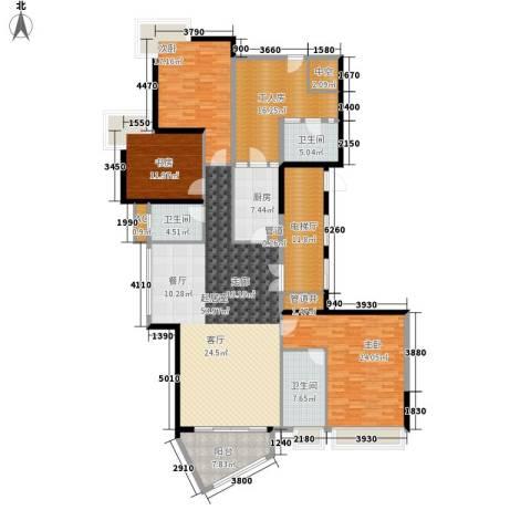 中海观园国际3室0厅3卫1厨193.00㎡户型图