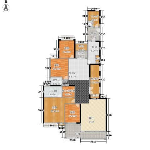 中海观园国际4室0厅3卫1厨243.00㎡户型图