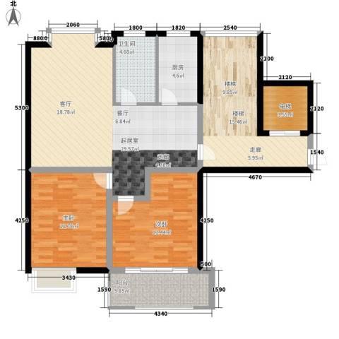 新隆蓝天公寓2室0厅1卫1厨101.59㎡户型图