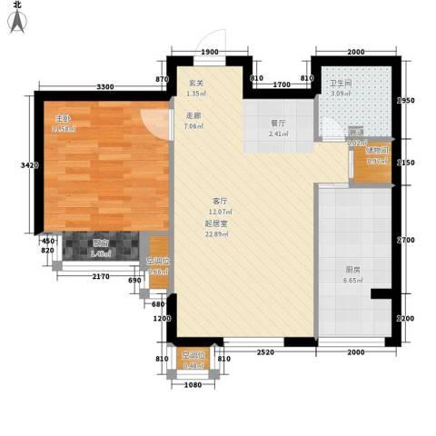 莱镇香格里1室0厅1卫1厨65.00㎡户型图