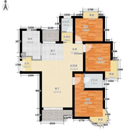 盛世宝邸3室0厅2卫1厨94.00㎡户型图