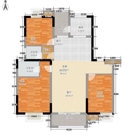 雨山美地3室0厅2卫1厨132.00㎡户型图