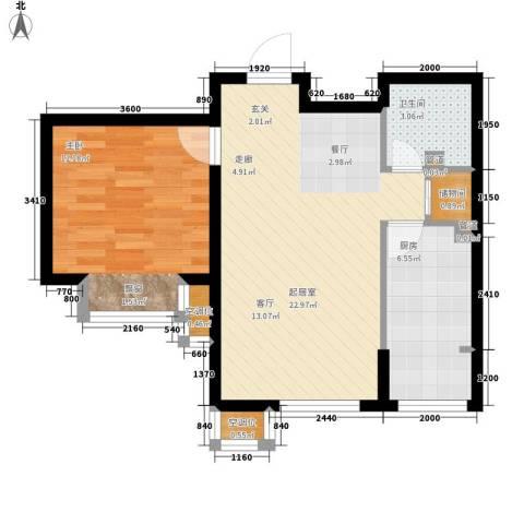 莱镇香格里1室0厅1卫1厨66.00㎡户型图