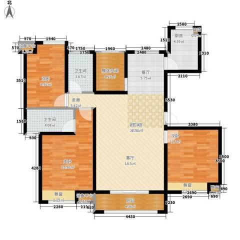 米兰浅山郡3室0厅2卫1厨101.00㎡户型图