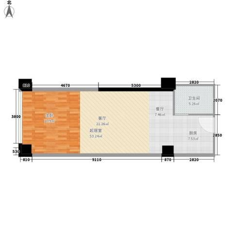 宏府大厦1卫0厨65.00㎡户型图