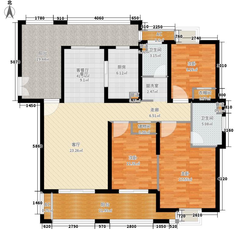 三房两厅两位 建筑面积约149平米