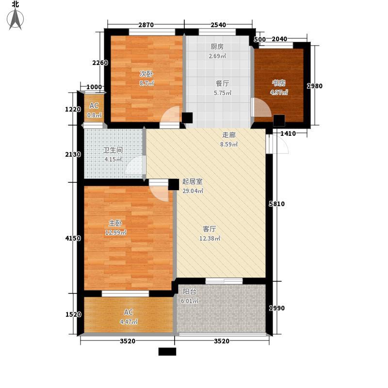银兰公寓81.89㎡18#一单元02二单元033室户型