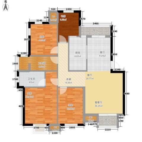 沧海御庭4室1厅2卫1厨146.00㎡户型图