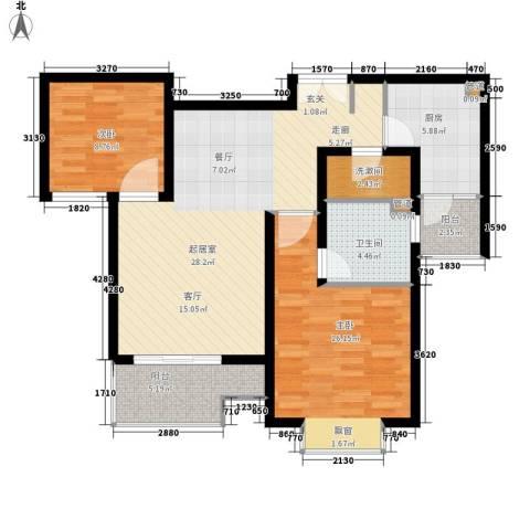 盛世宝邸2室0厅1卫1厨85.00㎡户型图