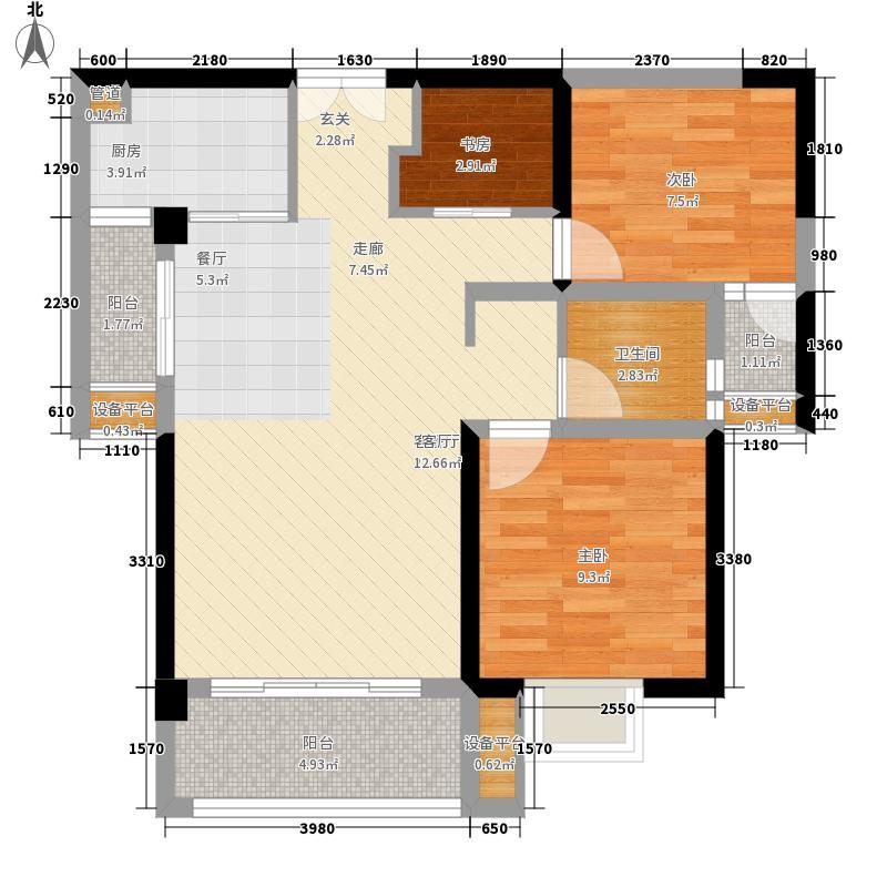 2/3#05户型,7#03户型,建筑面积约:87㎡ 2+1房两厅一卫