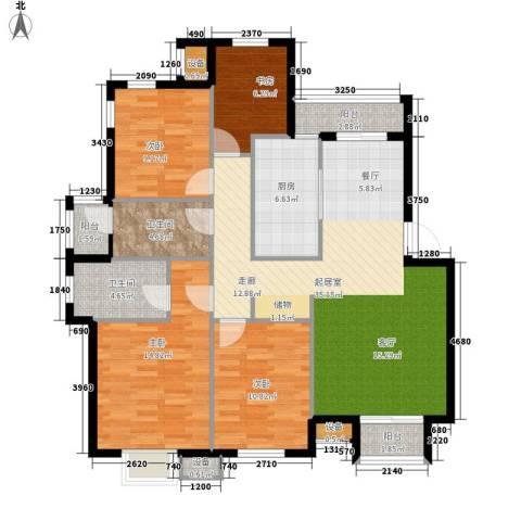 东城商城4室0厅2卫1厨142.00㎡户型图