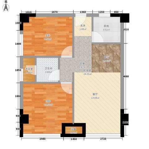 马园春小区2室0厅1卫1厨76.00㎡户型图