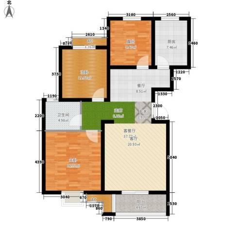天久一品2室1厅1卫1厨108.00㎡户型图
