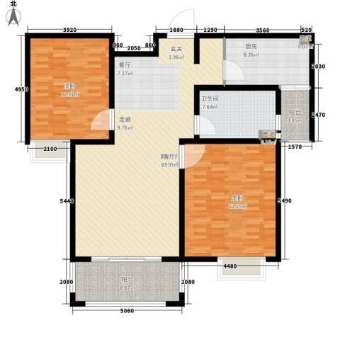 南五泾浜2室1厅1卫1厨126.00㎡户型图