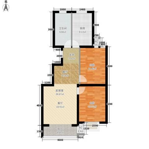 滨海未来城2室0厅1卫1厨97.00㎡户型图