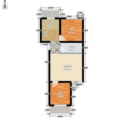 滨海未来城2室0厅1卫0厨84.00㎡户型图