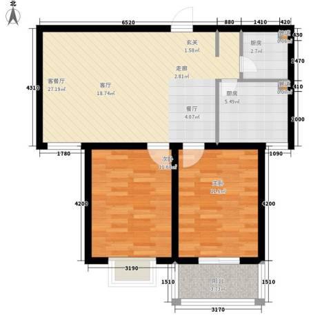 东城世纪广场2室1厅0卫2厨96.00㎡户型图