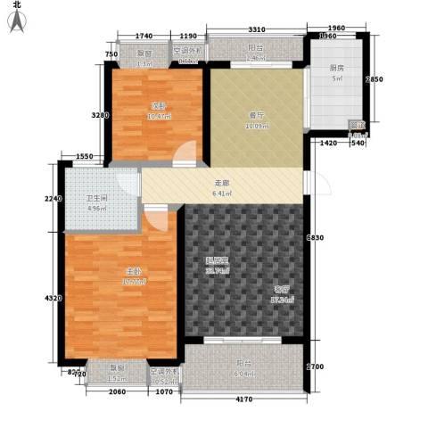 江南太阳城2室0厅1卫1厨91.00㎡户型图