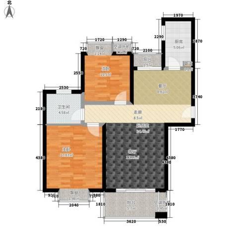 江南太阳城2室0厅1卫1厨90.00㎡户型图