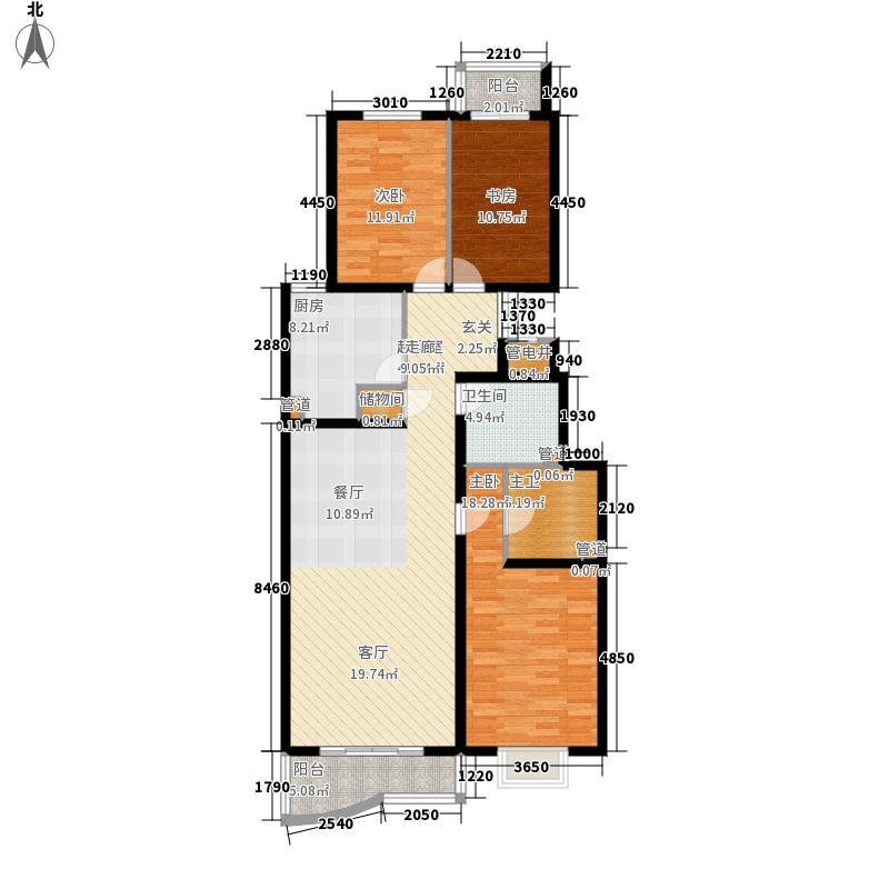 澳景花庭138.35㎡7号楼02号B面积13835m户型