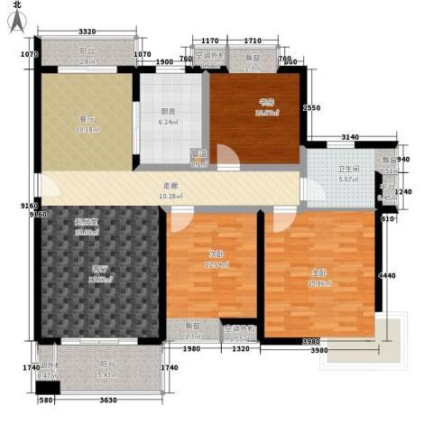江南太阳城3室0厅1卫1厨110.00㎡户型图