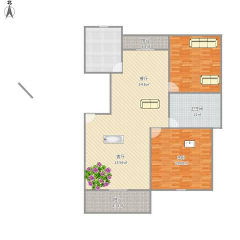 新顾村大家园A区1室1厅1卫1厨172.00㎡户型图