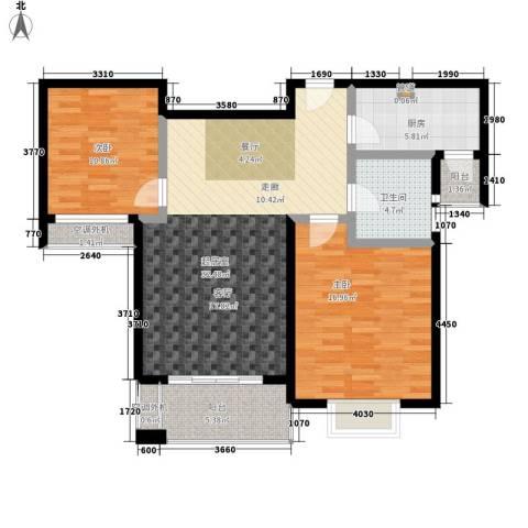 江南太阳城2室0厅1卫1厨89.00㎡户型图