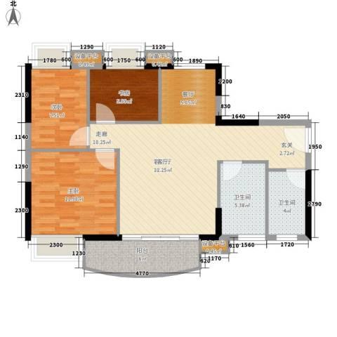 黄埔雅苑3室1厅2卫0厨82.00㎡户型图