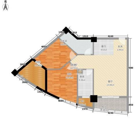 裕亚俊园2室1厅1卫1厨91.00㎡户型图