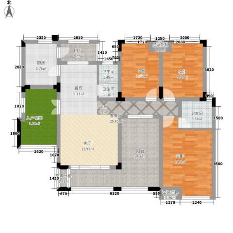 山语间爱尚3室1厅3卫1厨115.00㎡户型图