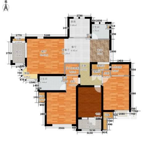 旭辉朗悦庭3室1厅2卫1厨137.00㎡户型图